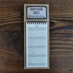 Magnetický kalendář domky